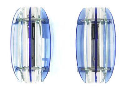 Peca, 'A pair of Italian glass wall lights'