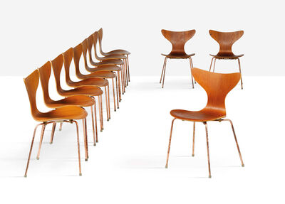 Arne Jacobsen, 'Set of 12 chairs'