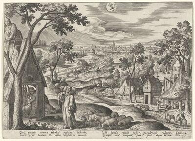 """Adriaen Collaert, '""""... I am the door of the sheep"""" (Leo)', 1585"""