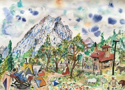 Chris Orr, 'Cezanne Paints Mount St Victoire No 1', 2018