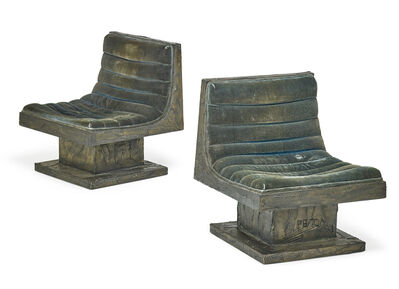 Paul Evans, 'Pair of rare swivel lounge chairs, possibly unique, New Hope, PA', 1970