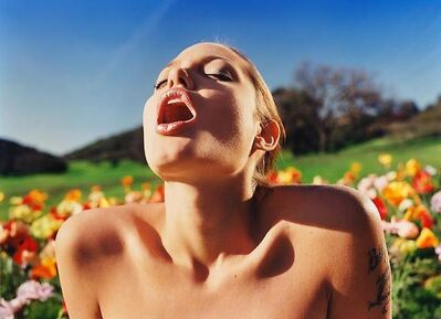 David LaChapelle, 'Angelina Jolie In Poppy Field', 2001