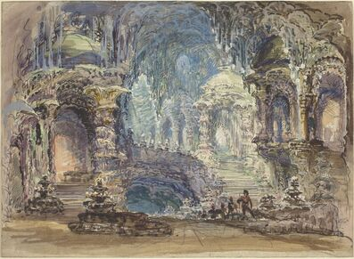 Robert Caney, 'Interior Scene With Troops In Foreground'