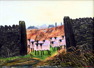 Peter Brook, 'Gathering Sheep in The Pennines and you are standing in the way'