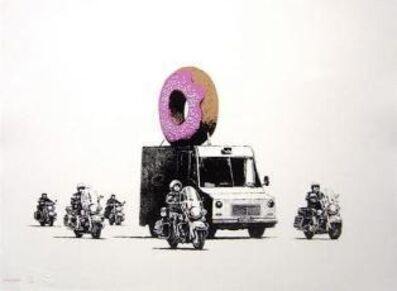 Banksy, 'Donuts Strawberry Signed', 2009