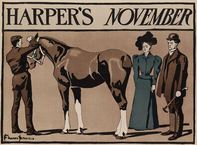 Edward Penfield, 'Harper's Bazaar November - Horse ', 1897