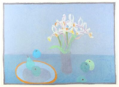 Bernard Myers, 'Still life with apples, pears and flowers'