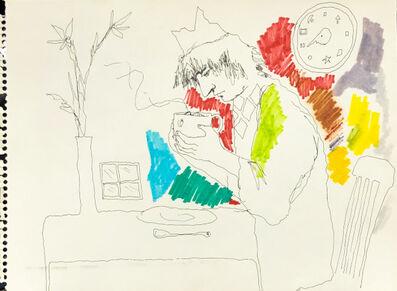 Mindy Alper, 'Untitled (examining cup contents)', n.d.