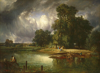 Constant Troyon, 'The Approaching Storm', 1849