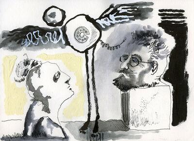 Mindy Alper, 'Untitled (bearded head on pedestal)', 2013