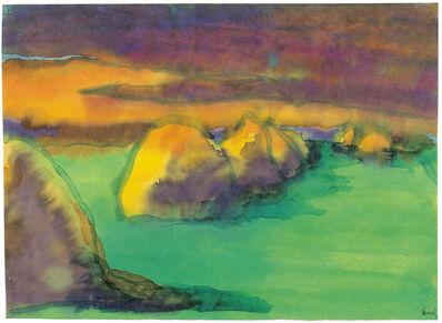Emil Nolde, 'Haystacks in the Evening Sun (Marshland)', 1920