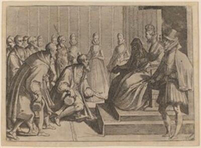 Raffaello Schiaminossi, 'Margaret of Austria Giving Audience to a Nobleman', 1612