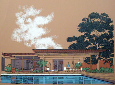 Carlos Diniz, 'Monarch Bay Homes, Pool View', 1961