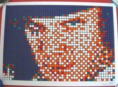 Invader, 'Rubik Kubrick (Alex) (Signed AP)', 2007