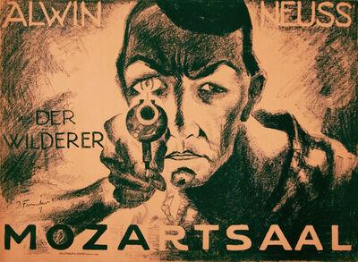 Josef Fenneker, 'Mozartsaal Theater - Alwin Neuss - Der Wilderer ', 1918