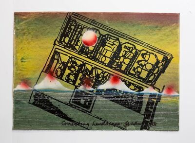 "Iain Baxter&, 'Iain Baxter& ""Correcting Landscape"" Conceptual Monoprint Painting', 20th Century"