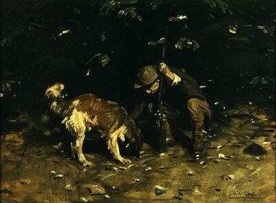 William Gilbert Gaul, 'The Hunter and His Dog', circa 1910