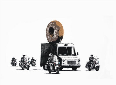 Banksy, 'Donuts (Chocolate) (Signed)', 2009