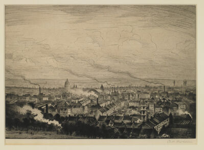 Christopher Richard Wynne Nevinson, 'London from Parliament Hill', ca. 1923