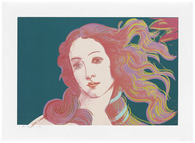 Andy Warhol, 'Details of Renaissance Paintings (Sandro Botticelli, Birth of Venus, 1482): one plate', 1984