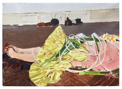 Fatma Shanan, 'Self portrait with yellow skirt', 2019