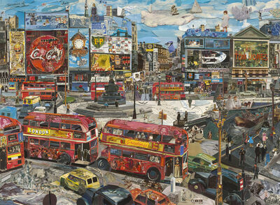 Vik Muniz, 'Piccadilly Circus (Postcards from Nowhere)', 2014