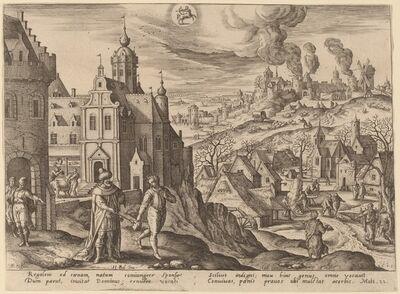 "Adriaen Collaert, '""For many are called, but few are chosen"" (Sagittarius)', 1585"
