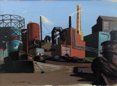 Leonard Everett Fisher, 'Industrial Scene', 1949