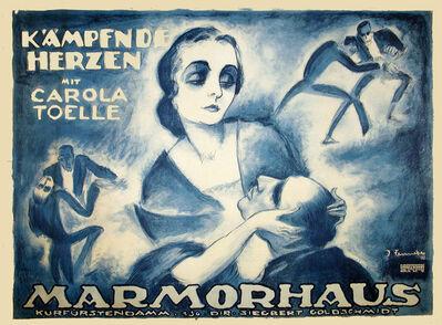 Josef Fenneker, 'K'a'mpfnde Herzen Marmorhaus Theater', 1921