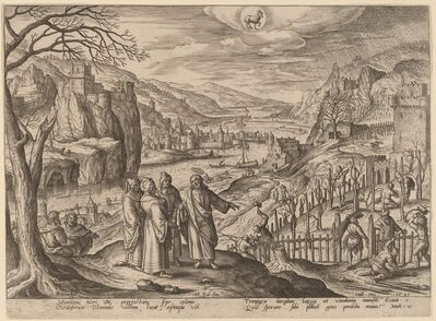 Adriaen Collaert, 'The Parable of the Wicked Husbandmen (Taurus)', 1585