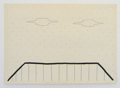 Vadim Fishkin, 'Geo-graphic (Two UFOs above the roof)', 1989-2005