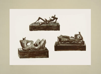 Henry Moore, 'Three reclining figures', 1976
