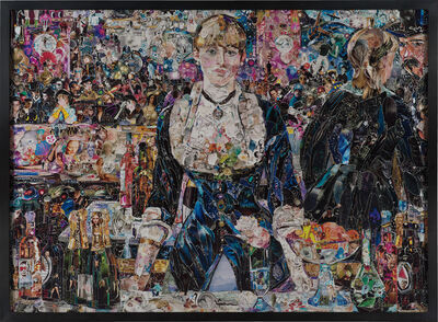 Vik Muniz, 'A Bar at the Folies Bergère, after Edouard Manet, from Pictures of Magazines 2', 2012