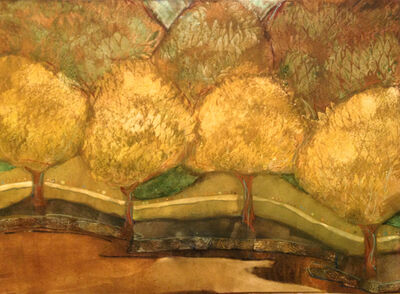 Kathy Daywalt, 'Golden Stroll'