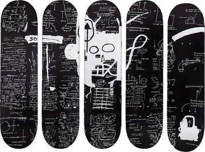 Jean-Michel Basquiat, 'Set of Five Skateboards', 2016