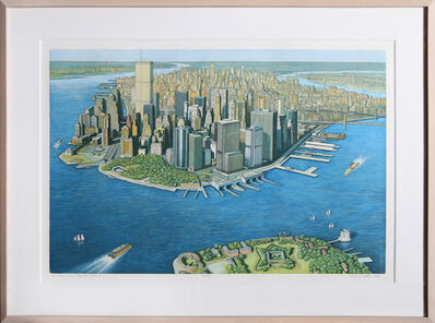 Richard Haas, 'Manhattan View from Governor's Island, color', 1999