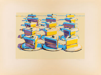 Wayne Thiebaud, 'Boston Cream (from Seven Still Lifes and a Silver Landscape)', 1970