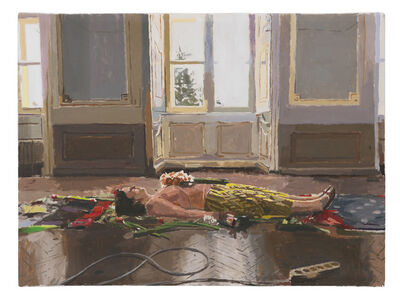 Fatma Shanan, 'Self-Portrait on Parquet', 2019