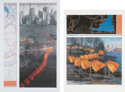 Christo, 'The Gates, Project for Central Park, VIII, New York City; and The Gates XXIX, Project for Central Park, New York City', 2003