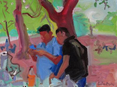 Dena Schutzer, 'Two Men under Tree', 2017
