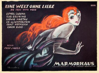 Josef Fenneker, 'Eine Welt Ohne Liebe - Marmorhaus - World Without Love - Woman Without a Heart', 1921