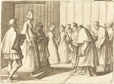 Raffaello Schiaminossi, 'Margaret of Austria Receiving the Homage of Cardinals and Prelates', 1612