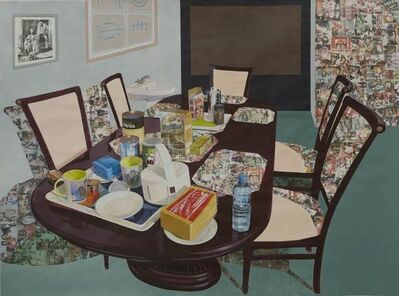 Njideka Akunyili Crosby, 'Tea Time in New Haven Enugu', 2014