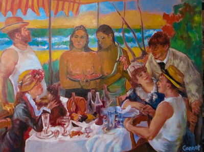 Russell Connor, 'Club Tahiti (after Gauguin, Renoir)'