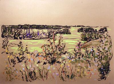 Gregory Hardy, 'Ditch Flowers Edge of Field Near Farm'