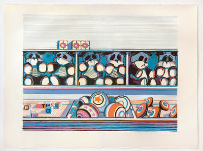 Wayne Thiebaud, 'Toy Counter (from Seven Still Lifes and a Rabbit)', 1970