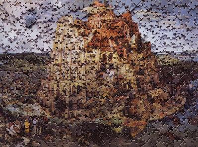 Vik Muniz, 'Gordian Puzzles: Babel Tower, after Pieter Bruegel', 2007