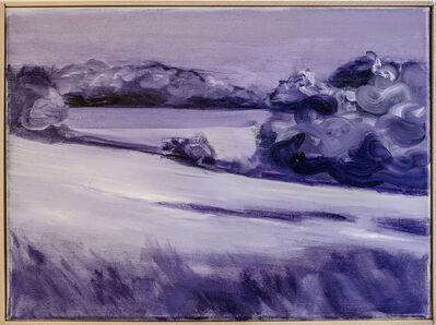 Jaybo Monk, 'Untitled (Landscape from train window between Hamburg and Berlin, violet)', 2018