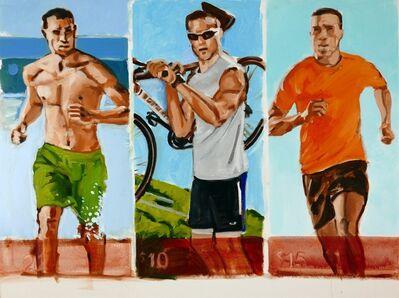 Walter Robinson, 'Swimming, Training, Running', 2016
