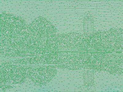 Lu Xinjian 陆新建, 'Reflections - Weiming Lake', 2016